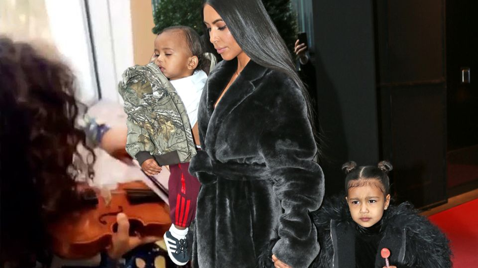 Saint West, Kim Kardashian, North West