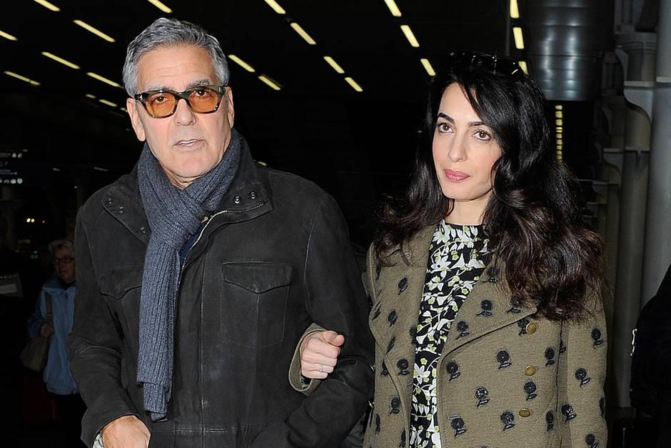 George Clooney und die schwangere Amal Clooney