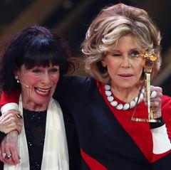 """Jane Fonda wird in der Kategorie """"Lebenswerk International"""" geehrt und ihre Laudatorin ist ihre enge Freundin Geraldine Chaplin."""