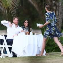 Prinz Harry und Meghan Markle genießen die gemeinsame Zeit bei der Hochzeit seines besten Freundes auf Jamaika.