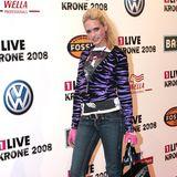 """2008 nimmt Sarah Knappik an GNTM teil. Ihr Style ist in diesem Jahr noch sehr eigenwillig und nennen wir es mal """"wild""""."""
