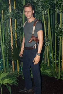 """Tom Hiddleston brilliert im neuen Blockbuster """"Kong: Skull Island"""": Das Wachsmuseum """"Madame Tussauds"""" in New York hat dafür extra eine Wachsfigur anfertigen lassen."""