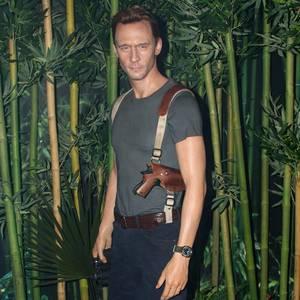 """7. März 2017  Tom Hiddleston brilliert im neuen Blockbuster """"Kong: Skull Island"""": Das Wachsmuseum """"Madame Tussauds"""" in New York hat dafür extra eine Wachsfigur anfertigen lassen."""