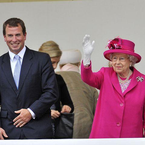 Peter Phillips + Queen Elizabeth