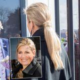 Extensions gibt es nicht nur in Hollywood. Auch Königin Máxima greift gelegentlich zu der Haarverlängerung, damit ihr Pferdeschwanz besonders voll wirkt. Die Clips versteckt sie geschickt unter einer Strähne, die sie um ihren Zopf wickelt.