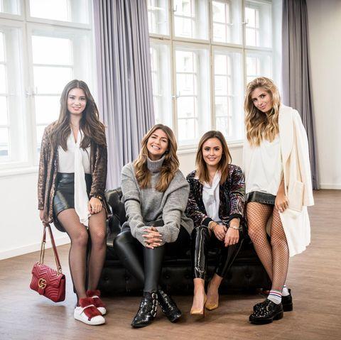 Milena Karl (Milena Le Secret), Farina Opoku (NovaLanaLove), Laura Noltemeyer (designdschungel) und Xenia Overdose.