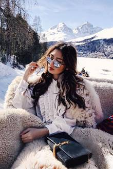 Auch Bloggerin Milena Karl (bekannt alsMilena le Secret) nutzt das Schweizer Bergpanorma für den perfekten Schnappschuss.