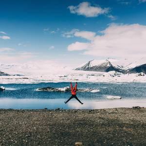 Karge Felsen und zerklüftete Eislandschaften. Nur eine Seite Islands.