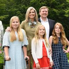 Prinzessin Amalia, Prinzessin Ariane, Prinzessin Alexia, Königin Máxima, König Willem-Alexander