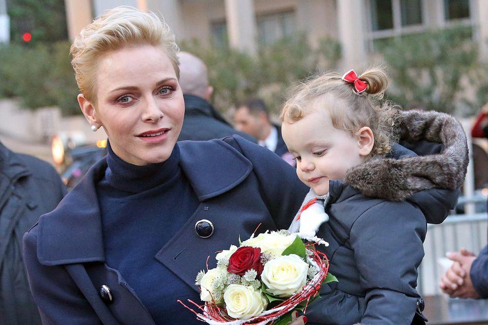Fürstin Charlene mit Tochter Gabriella