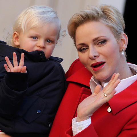 Fürstin Charlene mit Prinz Jacques