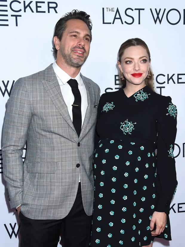"""Thomas Sodaski und die hochschwangere Amanda Seyfried auf der Premiere von """"The Last Word"""" in Los Angeles"""