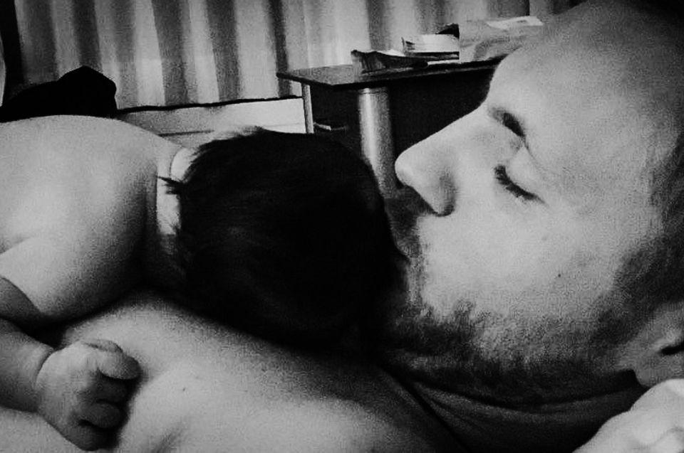 Niklas Osterloh mit seiner Tochter
