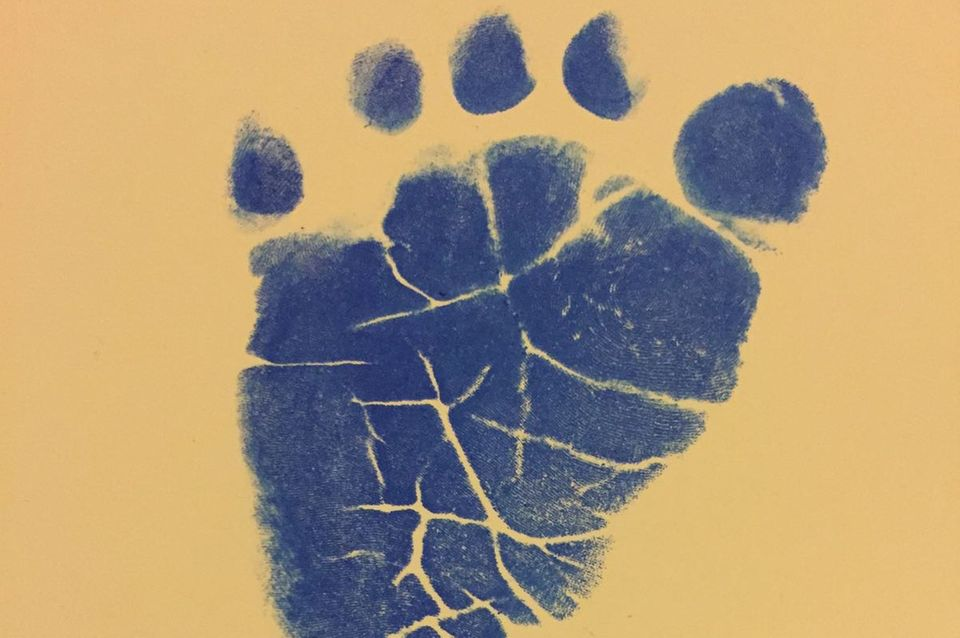 Der Fußabdruck vonNiklas Osterlohs Tochter