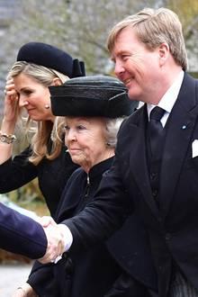 Aus den Niederlanden kommen König Willem-Alexander, Königin Máxima und Prinzessin Beatrix.