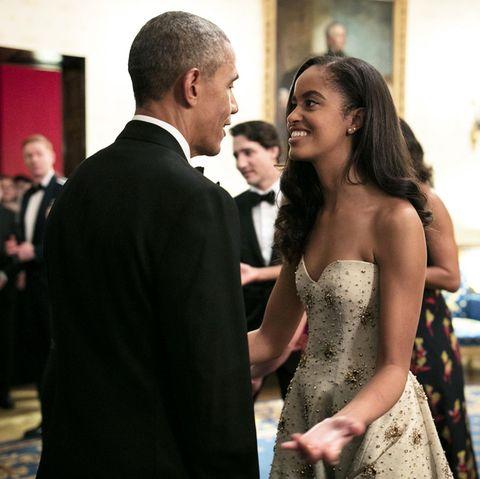 Barack Obama mit seiner hübschen Tochter Malia.