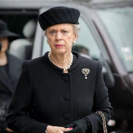 Die Witwe des verstorbenen Prinz Richard (†), Prinzessin Benedikte, erscheint vor der Kirche zum Trauergottesdienst.