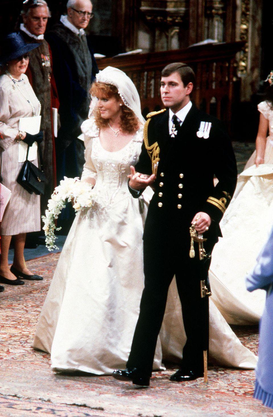 23. Juli 1986: Sarah Ferguson und Prinz Andrew, der Herzog von York, heiraten in der Westminster Abbey.