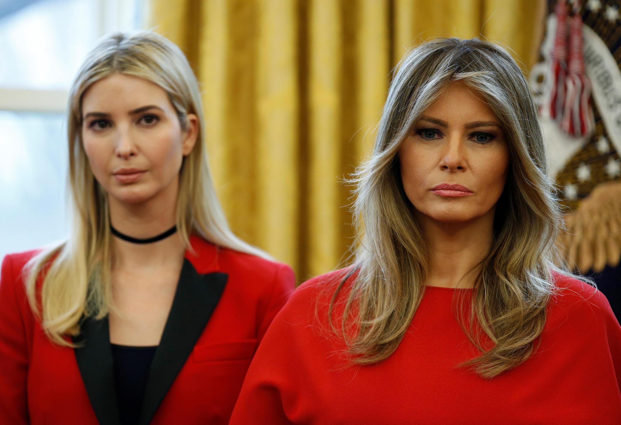 Ivanka Trump und Melania Trump im Weißen Haus
