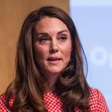 Herzogin Catherine bei einem Vortrag für eine Wohltätigkeitsorganisation am 23. März 2017 in London