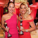 Strahlende Siegerinnen: Ana Ivanovic strahlt neben Franziska van Almsick. Die schöne Frau von Bastian Schweinsteiger ist beim Gala Spa Award zum Beauty Idol gekürt worden und wurde diesem Titel auch an diesem Abend wieder einmal mehr als gerecht.