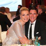 Maria Höfl-Riesch zu Tisch mit Ehemann Marcus Höfl.