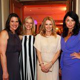 Iliane Weiß (Publisher GALA), Susanne Preiss (Auszeitcoach), Frauke Ludowig und Brigitte Huber (Chefredakteurin Brigitte) genießen die Party.