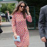 Mit auffälligem Muster kann auch Pippa Middleton begeistern, wie hier bei einem Besuch in Wimbledon