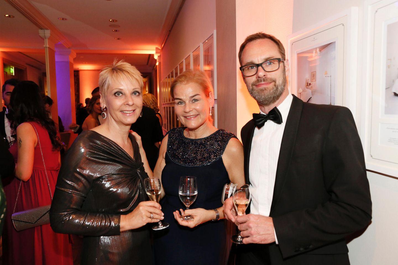 Andrea Kästel (Sisley), Britta Bartholomä (La Prairie) und Bart de Boever (LVMH / Dior)