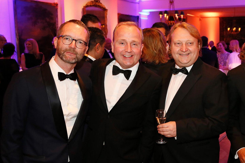 Marcus Luft (stellv. Chefredakteur Mode/Beauty), Markus Spieker (Estee Lauder/Clinique) und Heiko Hager(Gruner + Jahr)