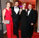 Anke Oberbrunner (Biotherm), Philipp Schwemmer (Skin Ceuticals) zusammen mit seiner Frau Natascha und Stefan Geister (Vichy)