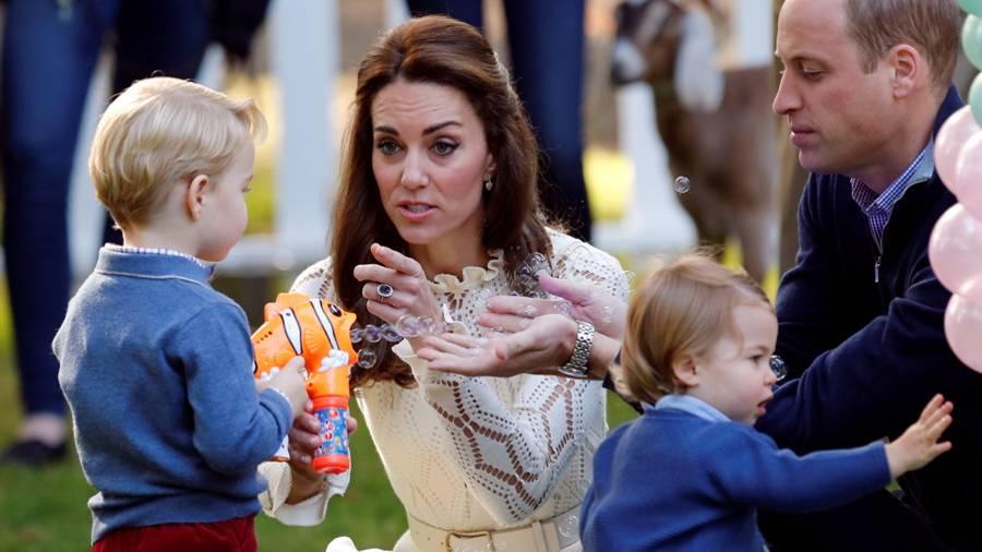 Prinz George, Herzogin Catherine, Prinzessin Charlotte, Prinz William