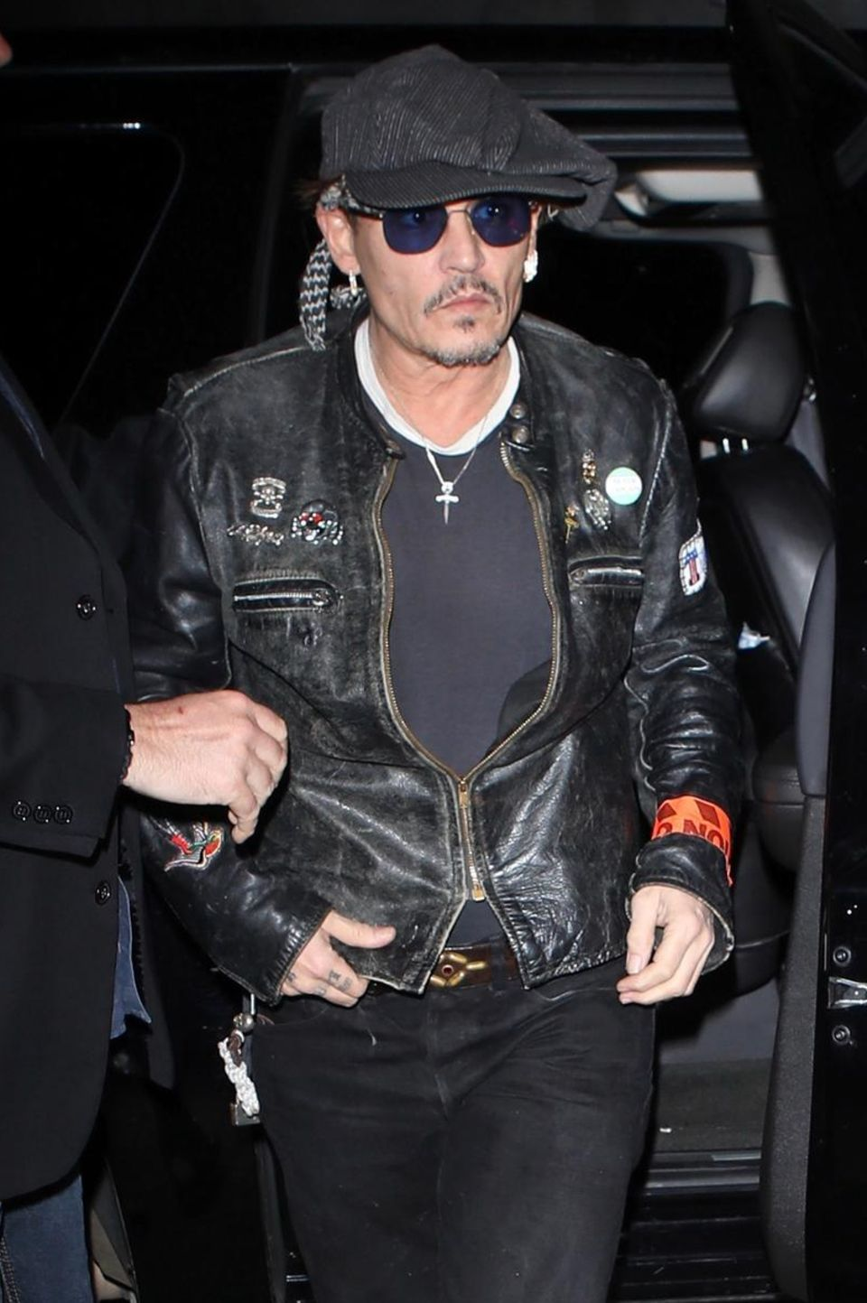 Johnny Depp am 28. März 2017 bei seiner Ankunft auf dem Geburtstag von Lady Gaga in Los Angeles