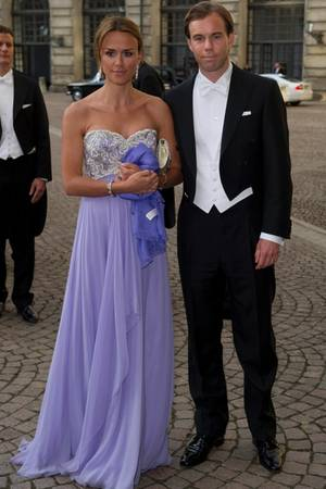 Karl Johan Persson und Ehefrau Leonie sind eng mit dem Kronprinzessinnenpaar befreundet, das Foto zeigt sie bei Victorias und Daniels Hochzeit