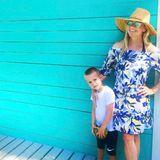 3. April 2017  Auch Montags gute Laune: Sohn Tennessee James und seine schöne Mutter Reese Witherspoon.