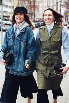 Sue und Annette stylen den weißen Rolli auf unterschiedliche Weise