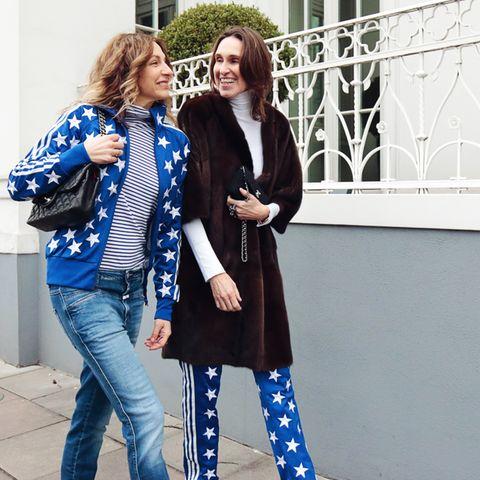 Stars and Stripes gehen immer, oder? Sue und Annette zelebrieren den Freundinnen-Style.