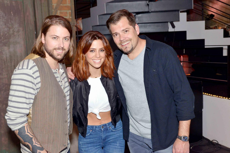 Vanessa Mai mit Felix von Jascheroff und Daniel Fehlow