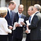 7. April 2017  Die Prinzen William, Edward und Andrew scherzen mit Serena und David Armstrong-Jones.