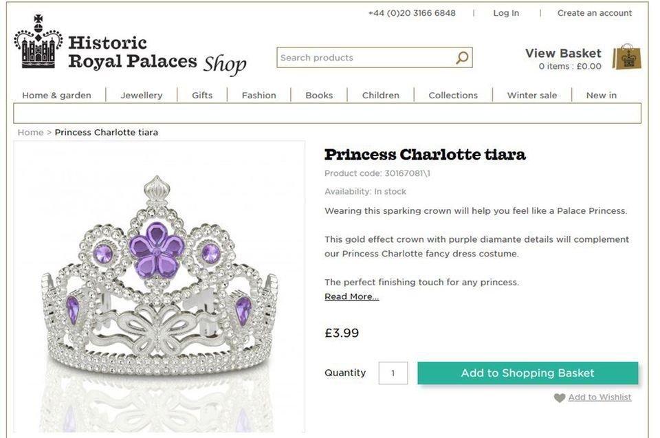 Für eine Prinzessin ein Muss: Das funkelnde Diadem - natürlich mit passendem, lila Stein.