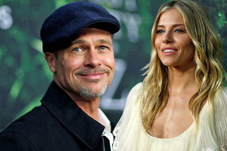 Brad Pitt + Sienna Miller