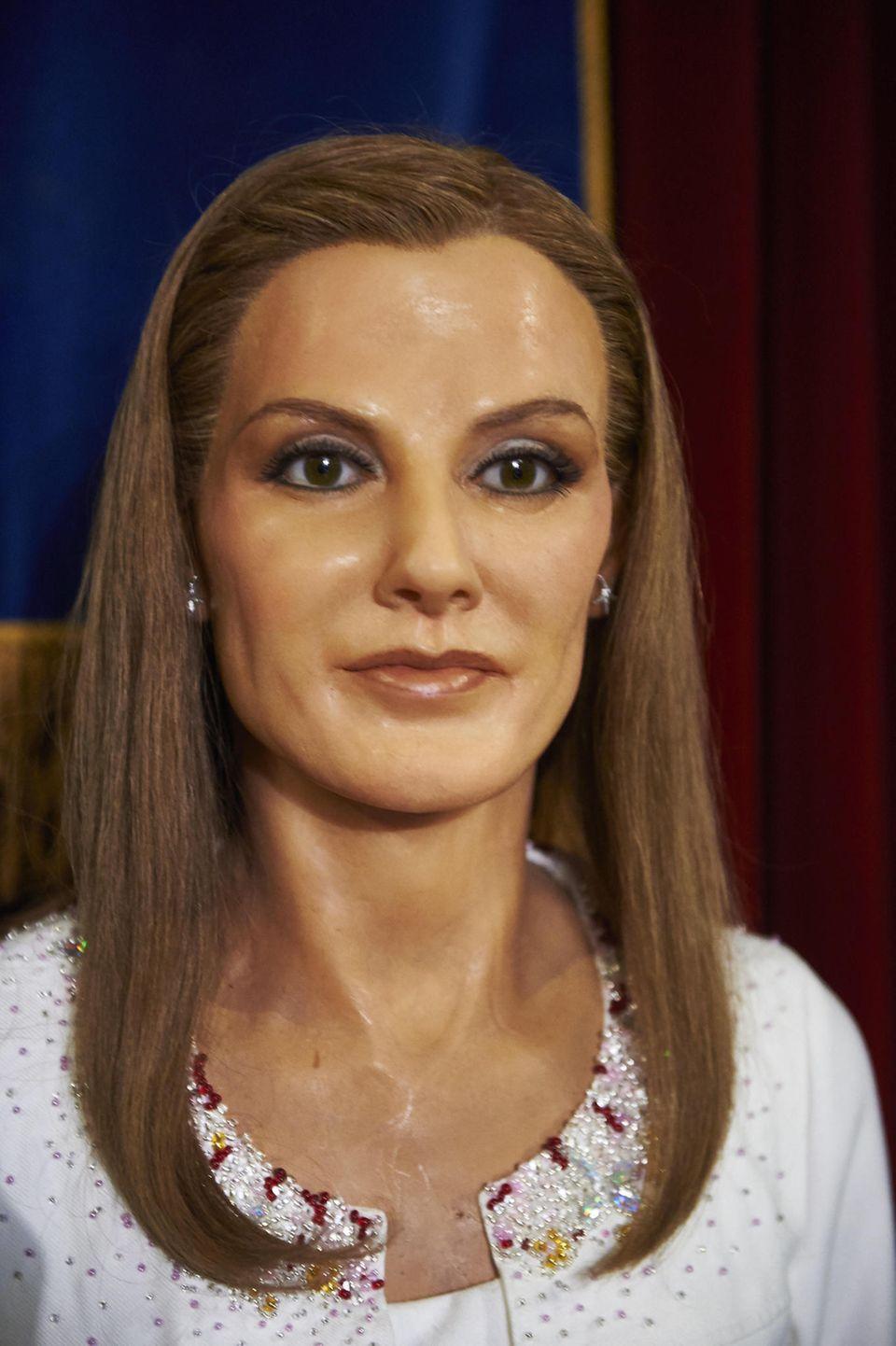 Die erste Wachsfigur von Königin Letizia