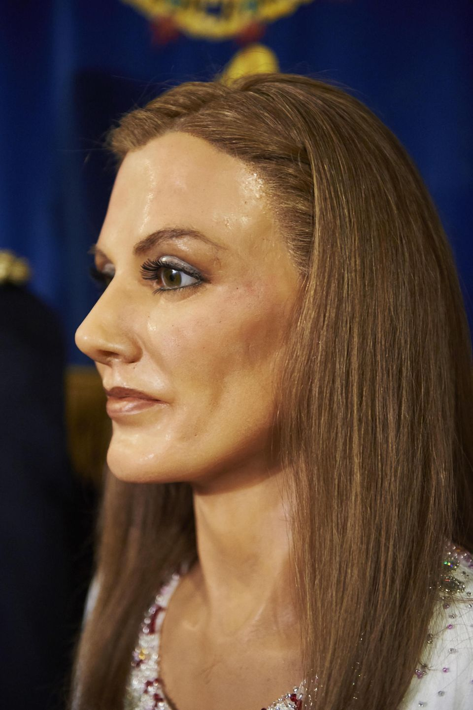 Königin Letizias Wachsfigur im Profil