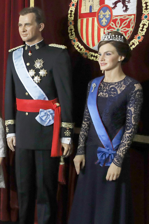 König Felipes und Königin Letizias Wachsfiguren