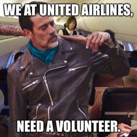 Eines von vielen Reaktionen auf den Vorfall bei United Airlines