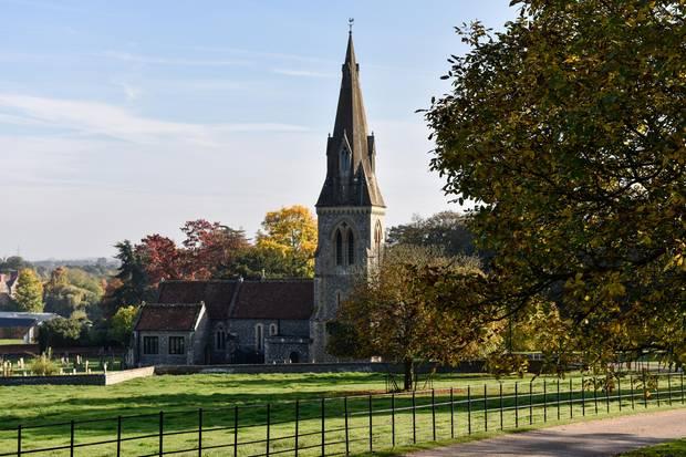 """Hier geht's zum Laufsteg:Oder zum Altar, je nach Sichtweise. In der St. Mark's Church in Berkshire sagt Pippa im Mai """"Yes"""". Die Kirche liegt elf Kilometer vom Anwesen ihrer Eltern entfernt"""