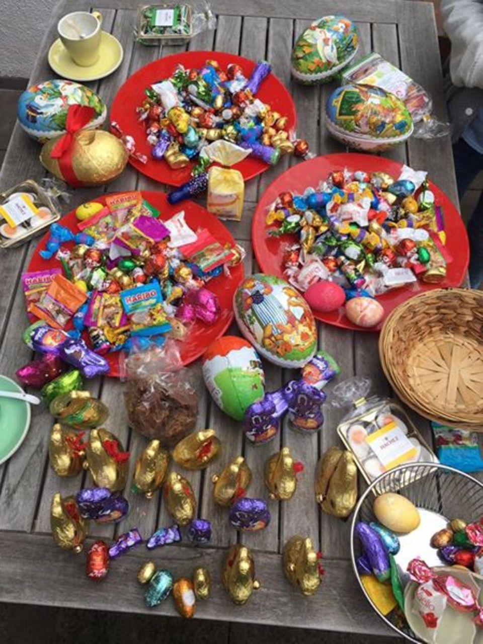 Mit drei Kindern weiß Wotan Wilke Möhring womit er bei seinen Kindern punkten kann. Schokolade! Und davon reichlich.