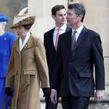 16. April 2017  Prinzessin Anne und ihr Mann Timothy Laurence gehören zur Oster-Gesellschaft, die sich auf den Weg in die Kirche gemacht hat.