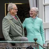 16. April 2017  Königin Margrethe feiert ihren 77. Geburtstag mit Prinz Henirk und der übrigen Familie an ihrer Seite auf Schloss Marselisborg.