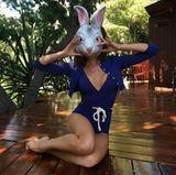 Victoria Beckham wünscht als sexy Häschen frohe Ostern.